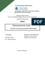 Entrepreneuriat social  Cas d'étude  le mouvement associatif de la wilaya de Bejaïa.pdf
