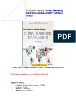 Global Marketing Management, 8th Edition Kotabe 2019 Test Bank and Solutions