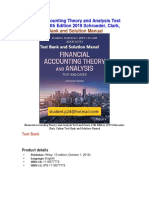 Financial Accounting Theory and Analysis Text and Cases, 13th Edition 2019 Schroeder Test Bank