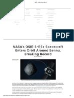 2019 - Osiris-rex Mission