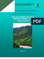 Memoria del mapa de deforestacion (versión preliminar)