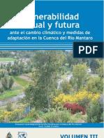Vulnerabilidad Actual y Futura y Medidas de Adaptacion en La Cuenca Del Mantaro