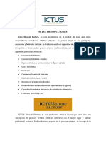 ICTUS PRODUCCIONES 2020