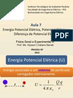 F3 Aula 7 Energia Potencial Elétrica Potencial Elétrico e Diferença de Potencial Elétrico.pptx
