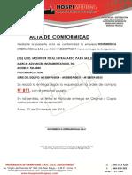 Acta de Conformidad y de Capacitacion - Hospimedica Butron
