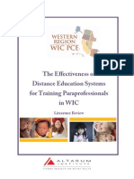 Effectiveness of Distance Education Systems Lit Review