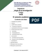 SILABO M. Investigación  2017-I