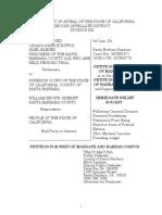Santa Barbara Co. Public Defender's Office petition for Habeas Corpus  + Exhibits