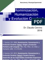 2- Hominización, Humanización