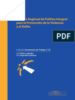 Modelo Regional de Política Integral para la Prevención de la Violencia y el Delito
