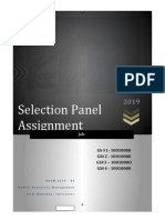 2115 Human Resource Selection Panel Assignment - TEMPLATE