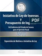 Ley de Ingresos para el Estado de Sonora. Ejercicio 2011