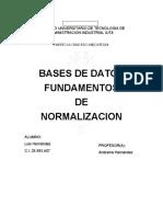 FUNDAMENTOS DE NORMALIZACION