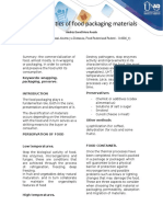 Characteristics of food packaging materials