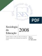 Trabalho Sociologia Educaçao