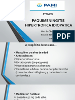 PAQUIMENINGITIS  HIPERTROFICA IDIOPATICA ateneo