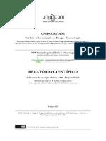 RELATORIO CIENTIFICO