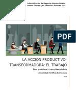 La accion productivo transformadora