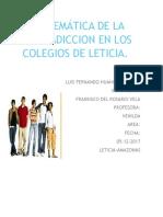 PROBLEMÁTICA DE LA DROGADICCION EN LOS COLEGIOS DE LETICIA