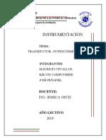Potenciometro transductor