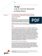 Accounting for fixed consideration in licence arrangements in the pharmaceutical and life sciences industry PwC In brief INT2018-08