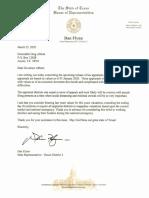 Dan Flynn letter to Greg Abbott