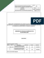 MEMORIA DE CALCULO HIDRAULICO DE ALCANATRILLADO