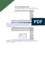 Crear hipervinculos en Dreamweaver CS6