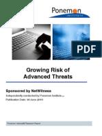 Net Witness Growing Risk Adv Threats Ponemon 070610