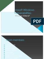 Microsoft Windows Vulnerabilities