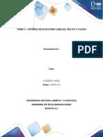 TAREA 2 – SISTEMAS DE ECUACIONES LINEALES, RECTAS Y PLANOS