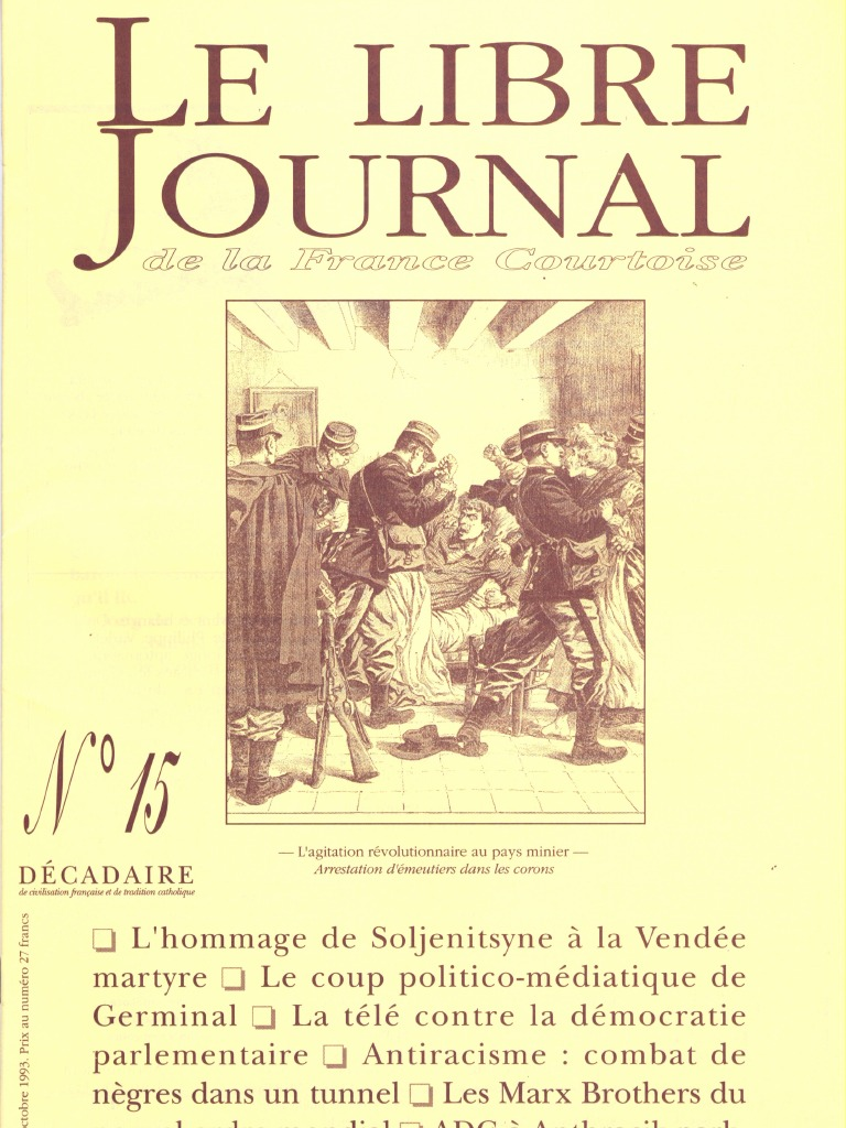 Libre De Journal Courtoise France N°015 La L4Rqc5j3A