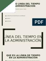TRABAJO LINEA DEL TIEMPO EN ADMINISTRACION