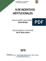 5-PLAN DE INCENTIVOS INSTITUCIONALES 2019