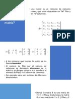Definición de Matriz.