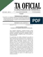 Gaceta Oficial sobre el ISLR