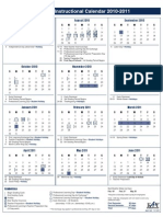 2010-2011 Instructional Calendar