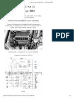 Diagrama da caixa de fusíveis e relés Chrysler 300