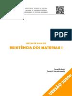 J. Labaki - Resistência dos Materiais I