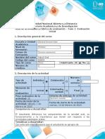 Guía de actividades y rúbrica de evaluación – Fase 1- Evaluación inicial