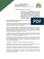 DECRETO - FEIRA GRANDE -PRORROGAÇÃO DE MEDIDAS RELATIVAS AO COVID 19- 31.03.2020