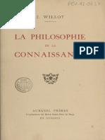 La philosophie de la connaissance - J. Willot