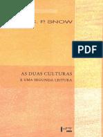 C. P. Snow - As duas culturas e uma segunda leitura - uma versão ampliada das duas culturas e a revolução científica-EDUSP (2015)