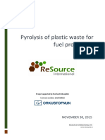 Orkusjodur 171 Pyrolysis of Plastic Waste for Fuel Production 2014030033