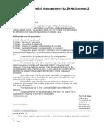 MBOF912D-Financial Management-Assignment-2