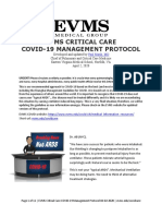 EVMS Critical Care COVID 19 Protocol 4-2-2020-Revised