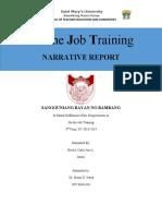 A Narrative Report