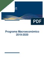 Costa Rica Programa Macroeconomico 2019-2020