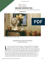 O homem que inventou Fidel, por Anthony Depalma