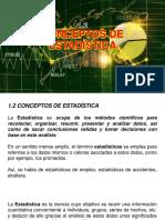 1.2 - CONCEPTOS DE ESTADÍSTICA - Dr. Jose A. Sarricolea Valencia